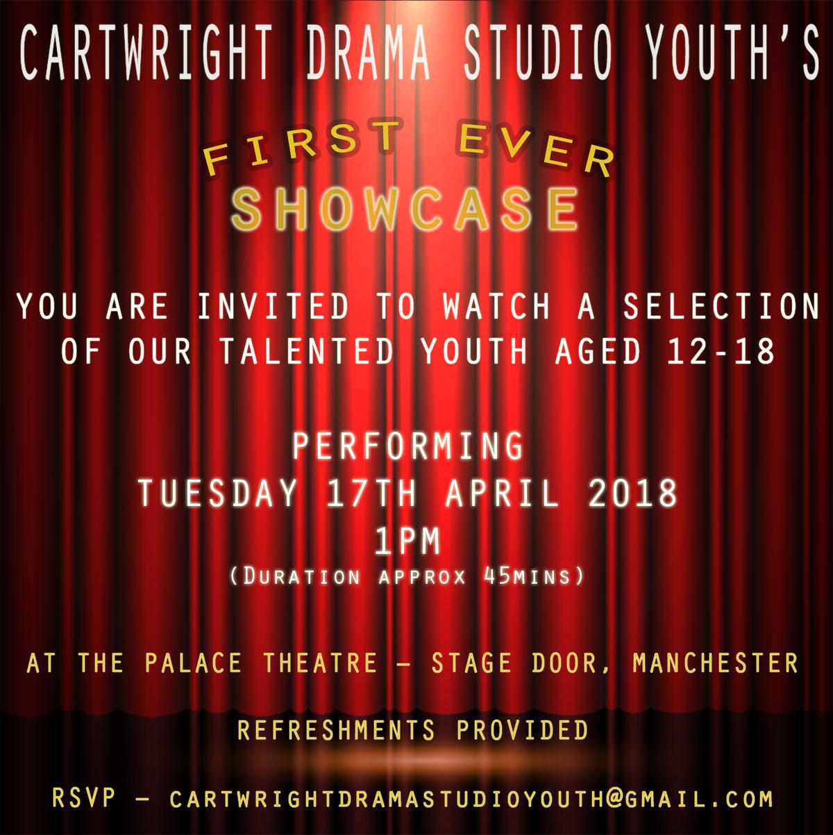 Cartwright Drama Studio Youth Showcase.