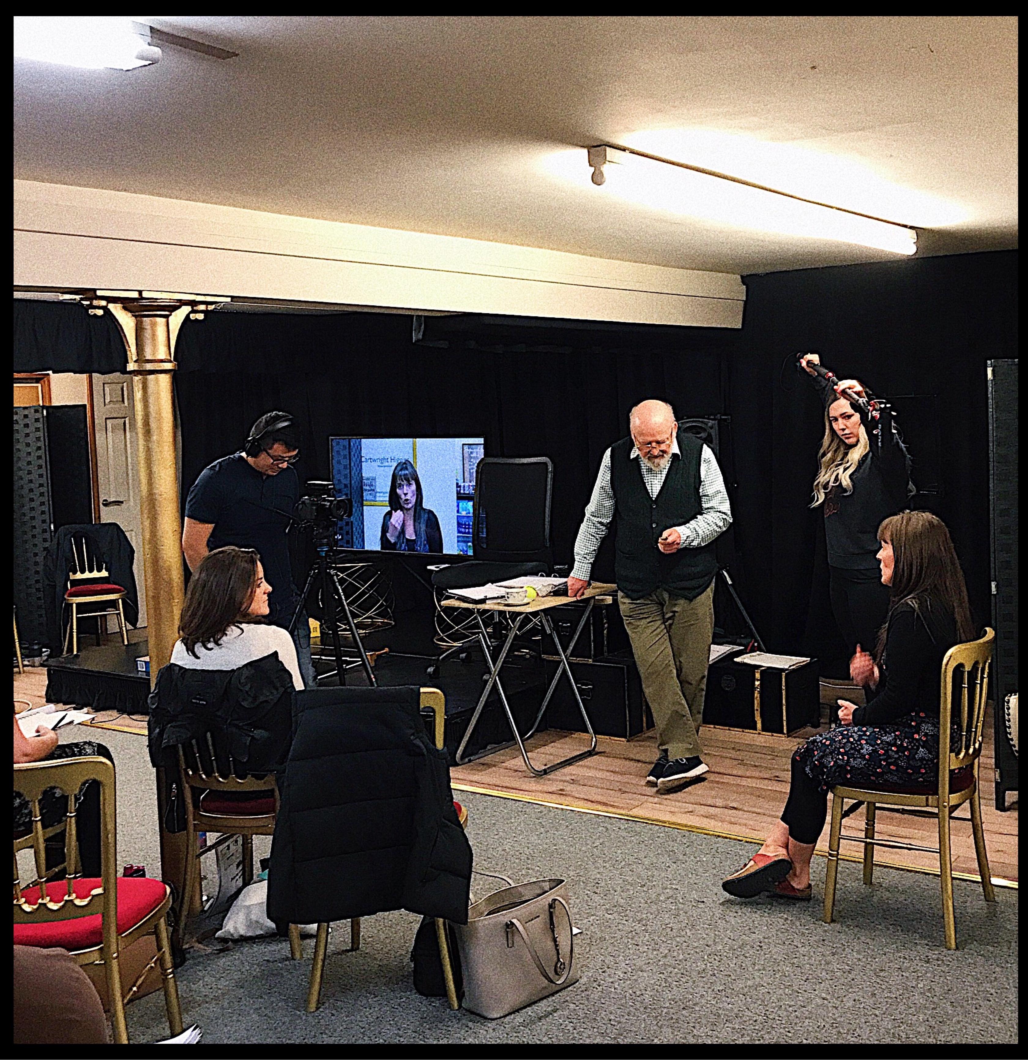 Patrick Tucker at the Cartwright Drama Studio.
